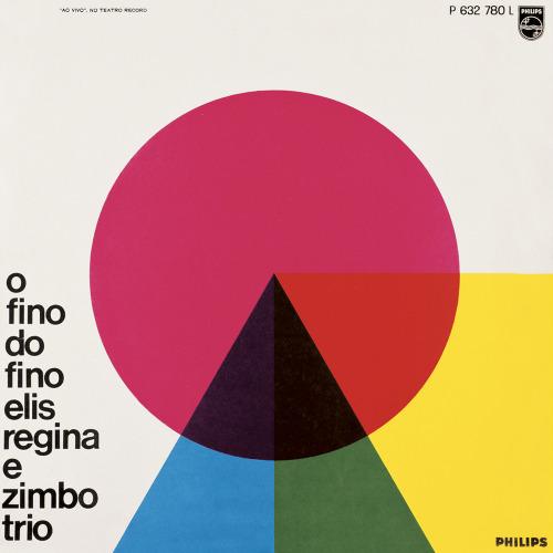 Capa de disco de 1965 O fino do Fino. Autor Carlos Prósperi. 31 x 31 cm