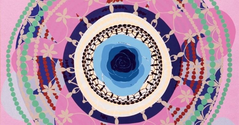 Rosa branca no centro, 1997. Serigrafia, Papel Somerset Velvet Radiant White.