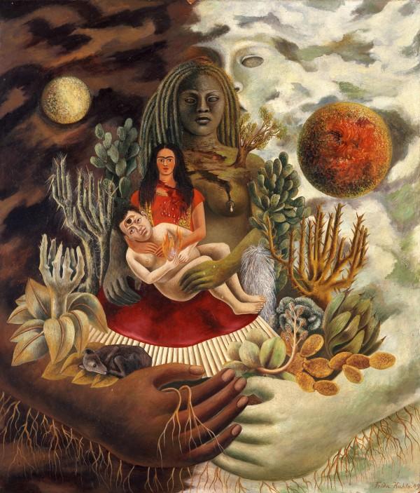 El-abrazo-de-amor-del-Universo-la-Tierra-México-Diego-yo-y-el-señor-Xólotl-1949-Óleo-sobre-Masonite-©2015-Banco-de-México-Diego-Rivera-Frida-Kahlo-Museums-Trust-e1443126150468