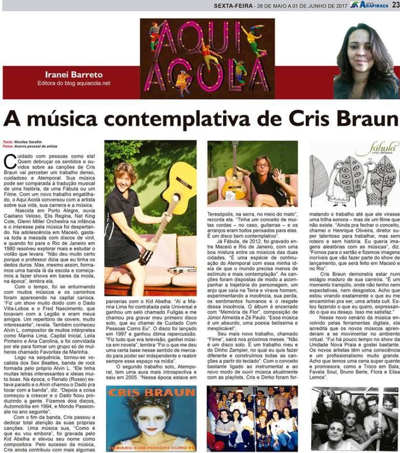 Coluna Aqui Acolá- Cris Braun - N64