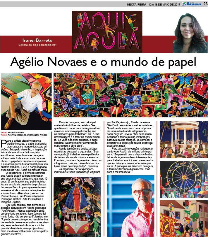 Coluna Aqui Acolá - Jornal de Arapiraca - 62 - Agélio Novaes