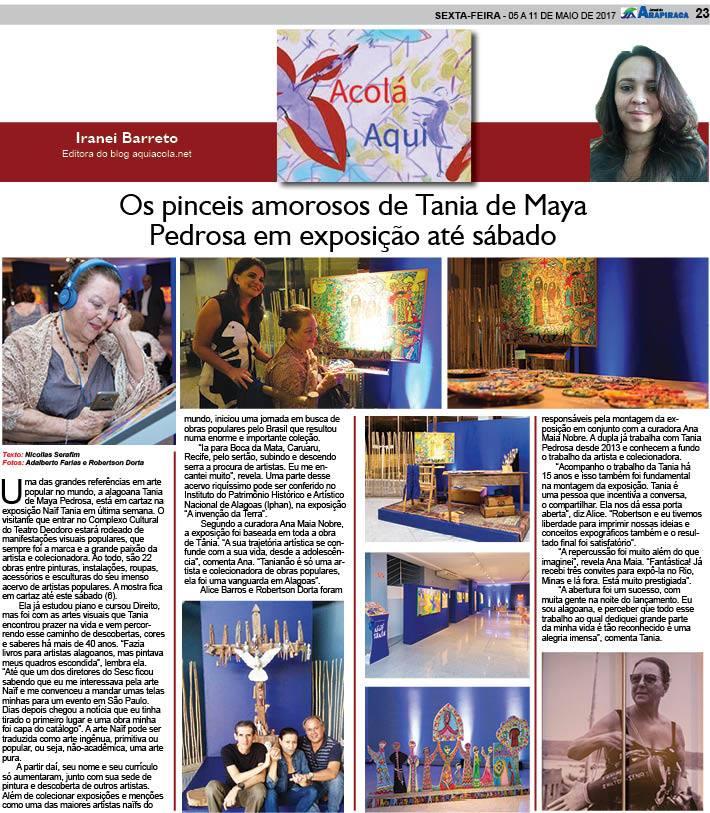 Coluna Aqui Acolá - Jornal de Arapiraca