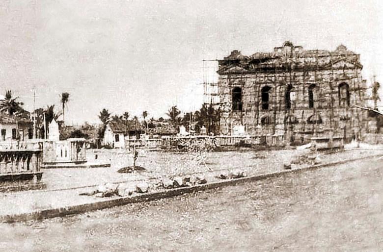 Praça Deodoro (1907) Construção do Teatro Foto: Site História de Alagoas