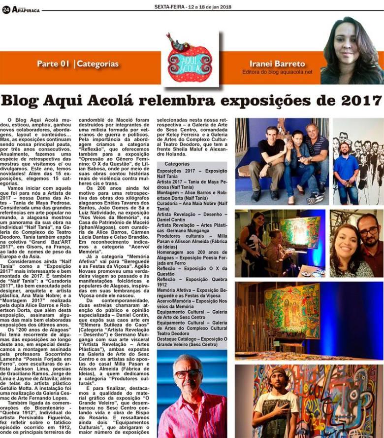Coluna Aqui Acolá - Janeiro 2018