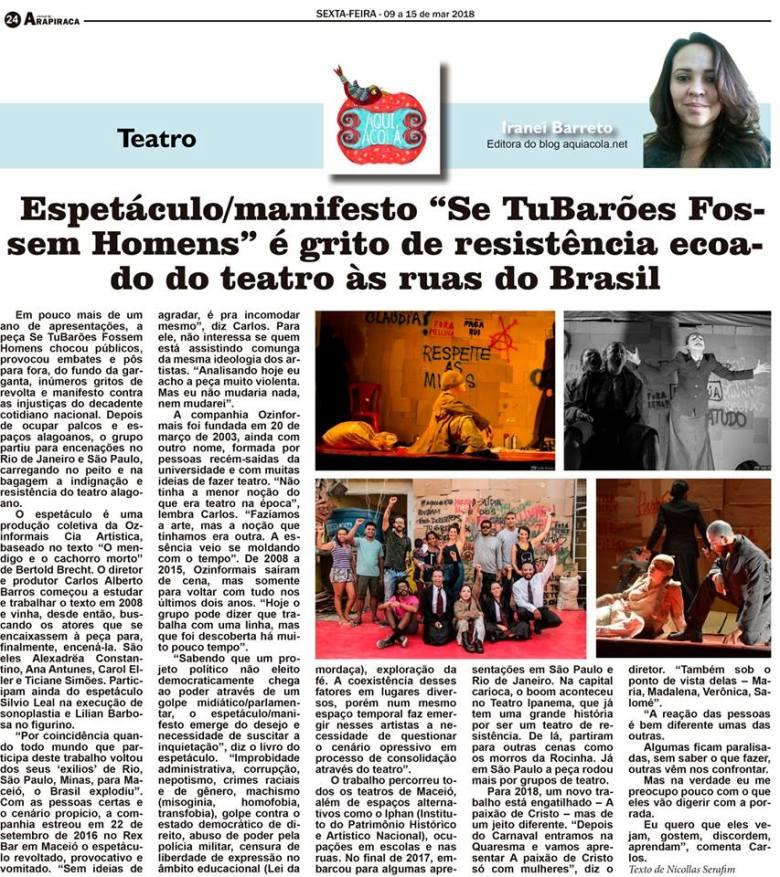 Coluna Aqui Acolá - Jornal de Arapiraca (3)