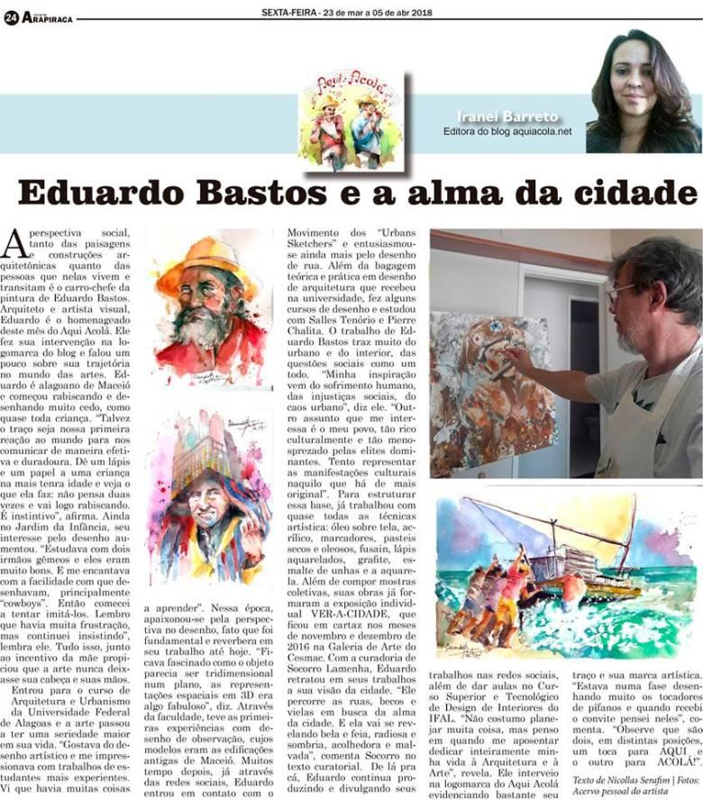 Aqui Acolá- edição 99 - Eduardo Bastos