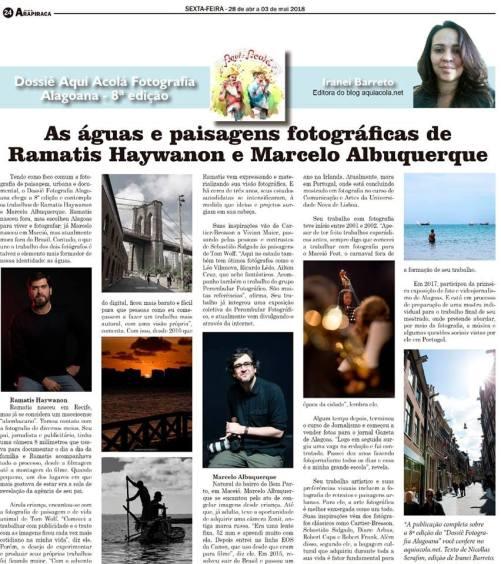 Coluna Aqui Acolá - Jornal de Arapiraca (1)
