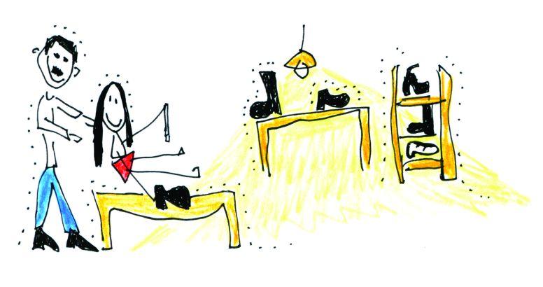 Ilustração do atelier do avô em Timbaúba | Foto: Acervo da artista