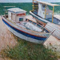 Barco Pesqueiro I, orla de Jatiúca, Maceió-Al | Foto: Acervo pessoal do artista