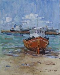 Barco Pesqueiro III, orla de Jatiúca, Maceió-Al | Foto: Acervo pessoal do artista