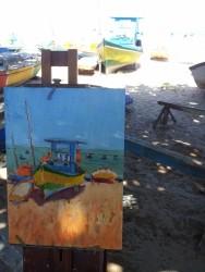Barco Pesqueiro IV, orla de Jatiúca, Maceió-Al | Foto: Acervo pessoal do artista