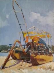 Draga, as margens da Lagoa Mundaú, Marechal Deodoro-Al | Foto: Acervo pessoal do artista