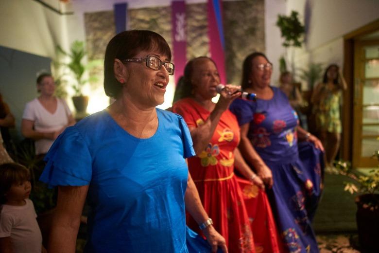Apresentação da dança baianas de Alagoas