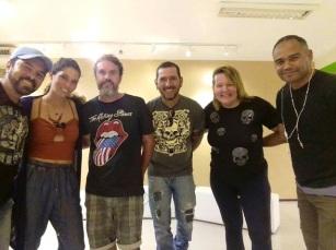 Exposição Da margem para dentro | Rafael Santos, Pão, Wado, Daniel Baboo, Carol Gusmão, Levy Paz.