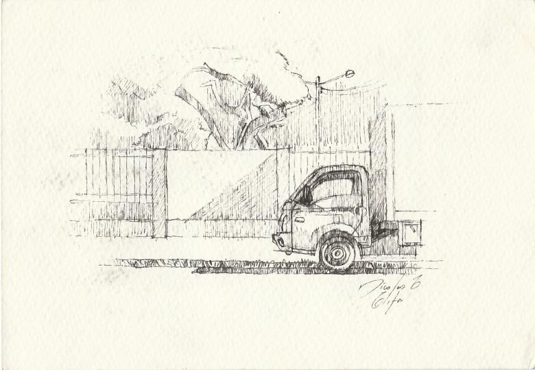 Um caminhãozinho no entardecer. Nícolas Elifas - blog AQUI ACOLÁ - PROJETO PERCURSOS (16)