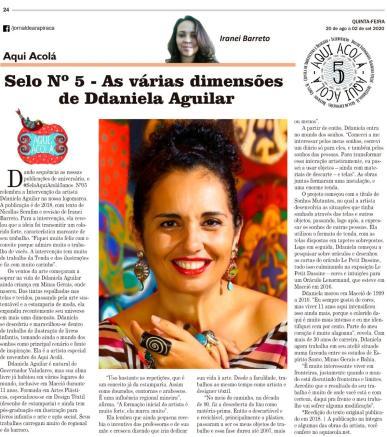 COLUNA AQUI ACOLÁ - JORNAL DE ARAPIRACA - AGOSTO 2