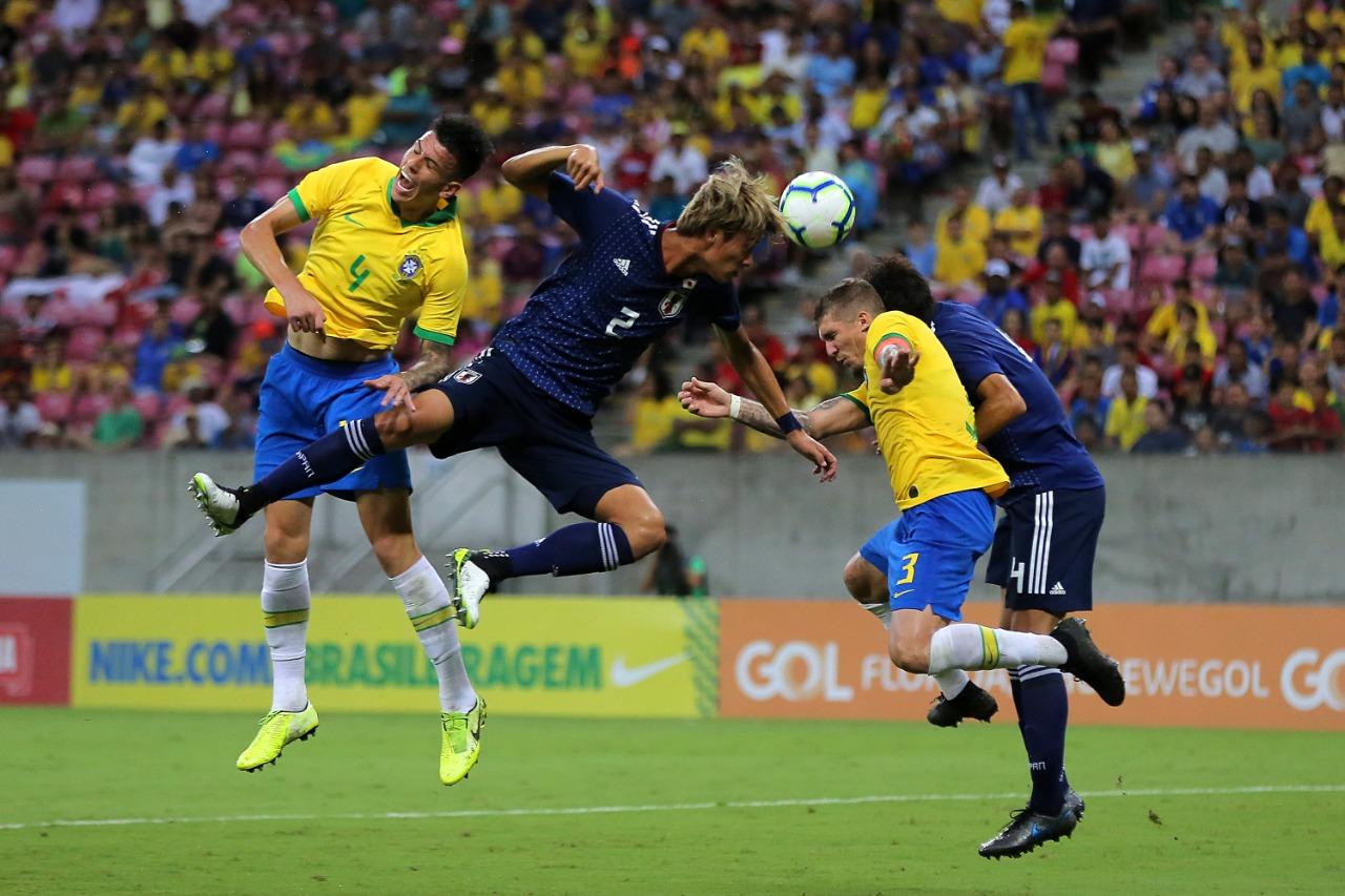 Futebol Brasil X Japão - Arena Pernambuco   Foto: Itawi Albuquerque
